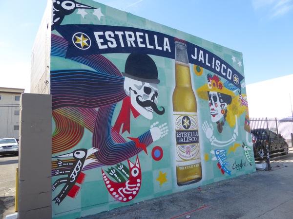 Estrella Jalisco Beer wall mural ad