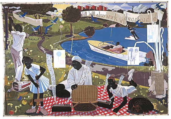 Past Times (1997) by Kerry James Marshall