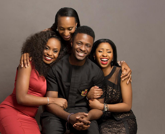 Yemi Osinbajo's family. His wife, Mrs Oludolapo and three beautiful kids, Kiki, her sister and his only son, Fiyin Osinbajo