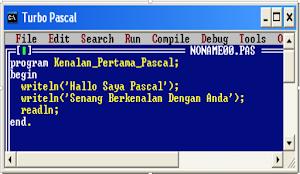 Membuat Program Pascal Pertama