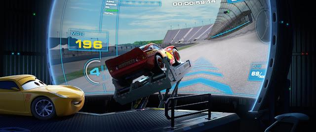 Cars 3: Rayo y Cruz entrenando