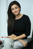 Telugu Actress Mishti Chakraborty Latest Pos in Black Top at Smile Pictures Production No 1 Movie Opening  0147.JPG