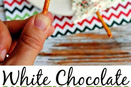 WHITE CHOCOLATE CHRISTMAS TREES