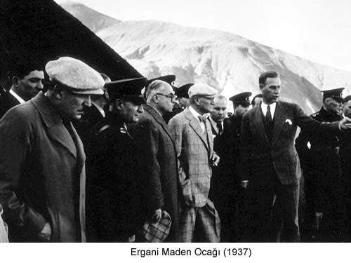 Atatürk Ergani Maden Ocağı 1937 Fotoğraf
