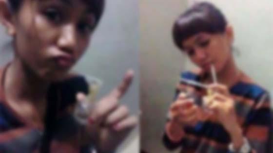 Aksi Gadis Hisap Syabu, Pegang Kondom Tersebar