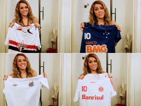 56fcf54a16bc5 (Miley Cyrus com as camisas do São Paulo, Cruzeiro, Santos e Inter)