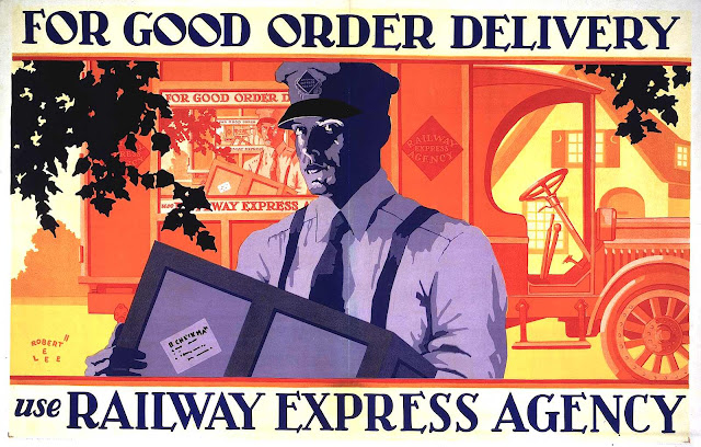 a Robert Edward Lee illustration, 1929 Railway Express agency ad