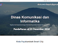 Dinas Komunikasi dan Informatika Pemko Payakumbuh Penerimaan Pegawai Non PNS @9 Orang