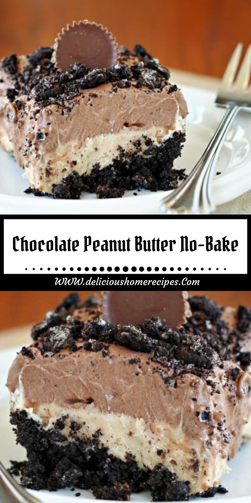 Chocolate Peanut Butter No-Bake