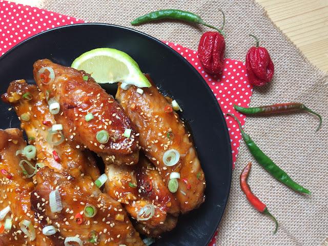 alitas thai receta