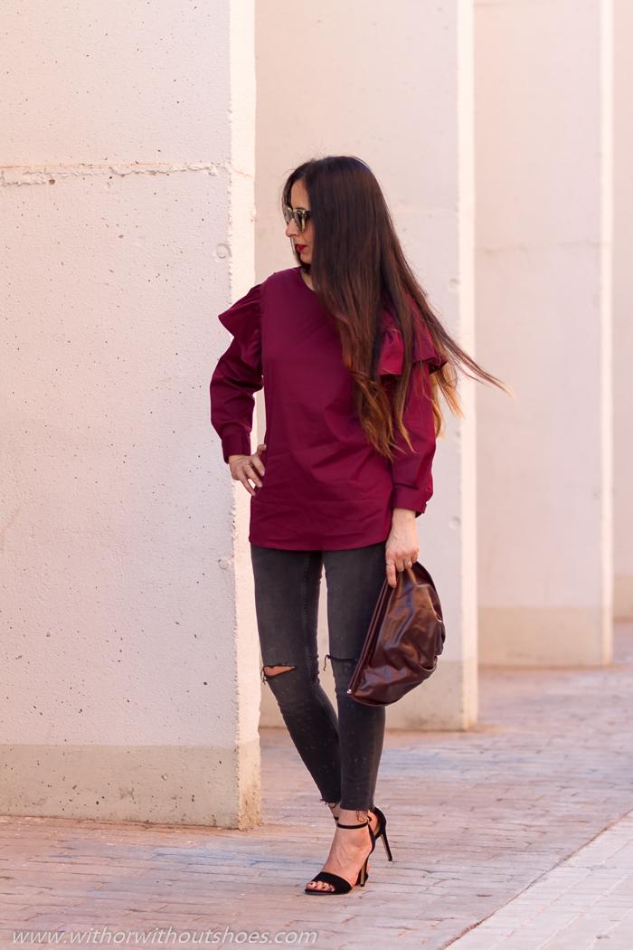 BLogger influencer de moda de Valencia con look despues del parto para salir