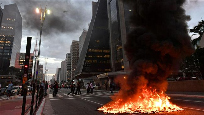 General strike hits major cities across Brazil against President Michel Temer
