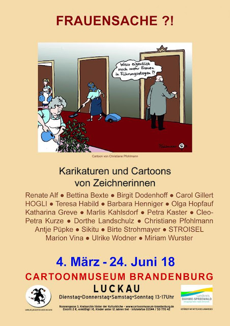 Frauenpower im Cartoon-Museum Brandenburg