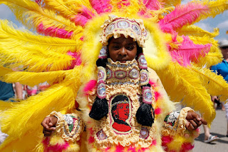 full garb mardi gras indian