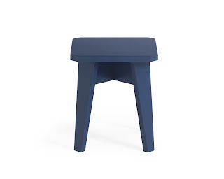 banco infantil azul