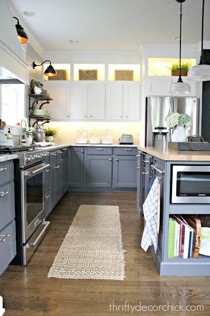two-tone kitchen renovation