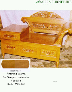 Contoh Furniture Semprot Melamine Yellow B