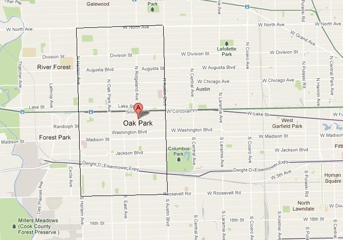 Oak Park Chicago Map.Chicago Urbanist A Walkable Survey In Oak Park Lake And Euclid