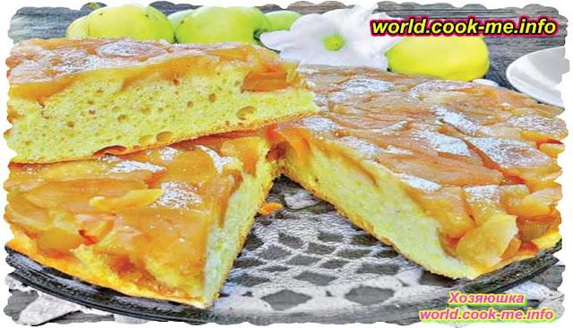 Пирог с печенными яблоками