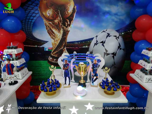 Decoração mesa aniversário PSG - Paris Saint-Germain - Festa infantil