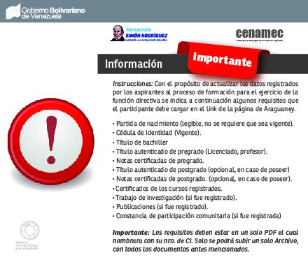 ACTUALIZACIÓN DE DATOS DE LOS  PARTICIPANTES AL PROCESO DE FORMACIÓN PARA EL EJERCICIO DE LA FUNCIÓN DIRECTIVA