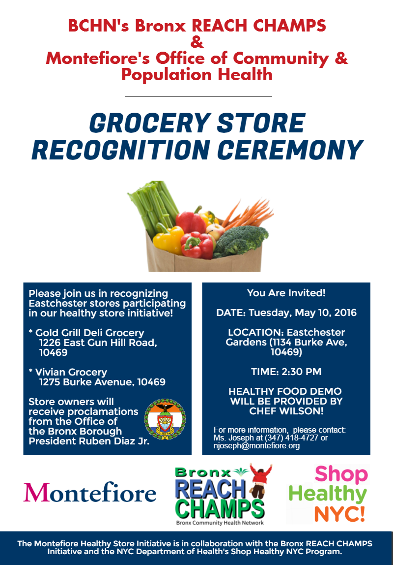 BCHN News: Shop Healthy NYC Proclamations To Be Awarded to