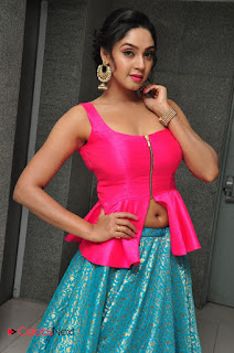 Angana Roy in a Spicy Pink Tank top at Chal Chal Gurram Audio Release