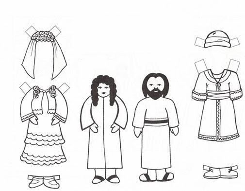 El Renuevo De Jehova Isaac y Rebeca  Imagenes para colorear