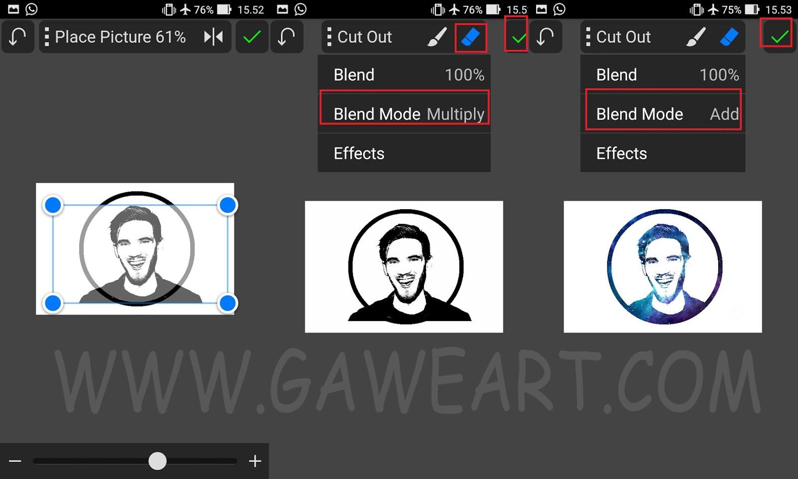 Cara Membuat Galaxy Face Logo Di Picsay Pro