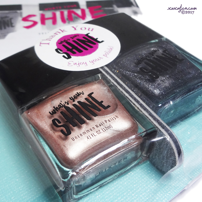 xoxoJen's swatches of What's Your Shine