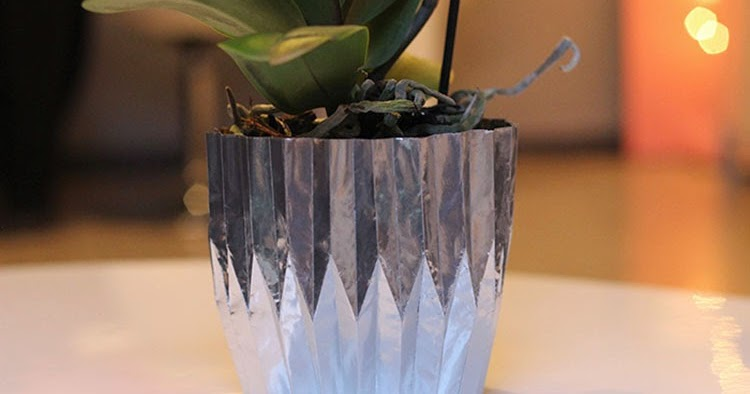 tiboudnez diy un cache pot en origami m tallique tiboudnez blog do it yourself diy. Black Bedroom Furniture Sets. Home Design Ideas