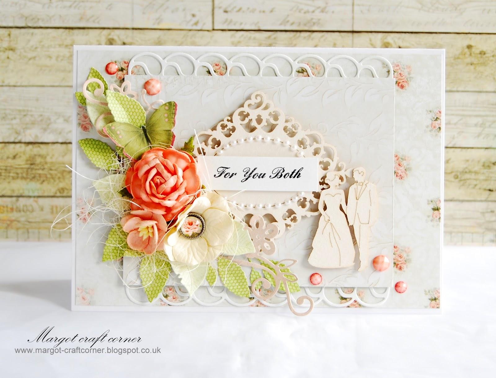 scrap and craft wedding card