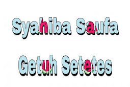 Kunci Gitar Syahiba Saufa Getuh Setetes