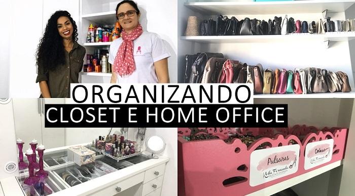 CLOSET E HOME OFFICE - ANTES E DEPOIS - CALUORGANIZA #HOMESALTOALTONAESTRADA