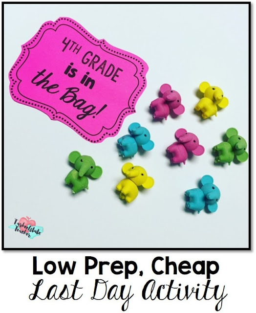 "Fun, easy, cheap end of year activity to do on the last day of school! Perfect for all grade levels. Includes optional writing component! The basic idea of my ""This Year is in the Bag!"" activity is for students to represent something they will remember about 4th grade and to create an easy, meaningful culminating activity for the school year."