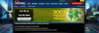 %100 300 euroya kadar hoşgeldin bonusu gibi her ay reload bonusu