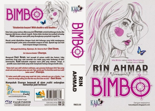 Novel Online Bimbo bab 1 hingga bab 17, drama adaptasi novel Bimbo, gambar novel Bimbo penulis Rin Ahmad, drama Aku Bukan BIMBO (Astro)