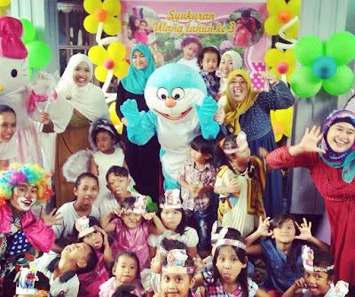 pesta ulang tahun karis di bintaro tangerang selatan