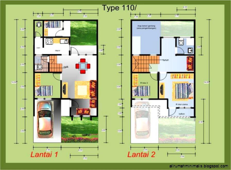 Denah Rumah Minimalis Type 21 | Design Rumah Minimalis