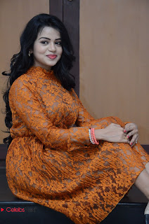 Actress Bhavya Sri Stills in Lace Gown at Kali Movie Audio Launch  0042.JPG
