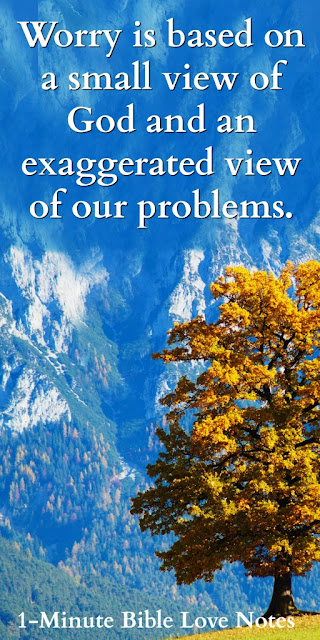 tiny bugs kill massive tree, worry is exaggerated, worry is a small view of God