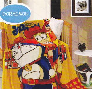 Selimut kintakun Flannel Doraemon