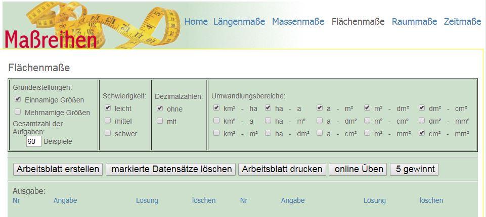SCHÜLERCLUB Dornbirn: [ #mathematik ] Maßreihen: Online kostenlos üben