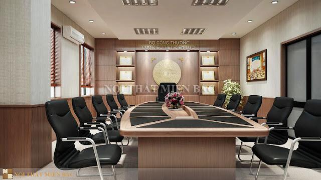 Bàn phòng họp veneer sang trọng khẳng định đẳng cấp doanh nghiệp