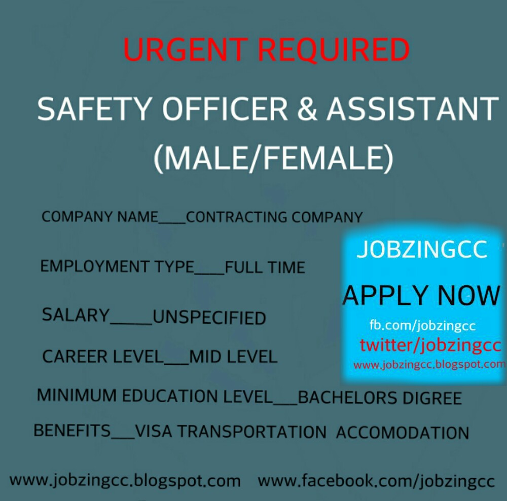 Urgent safety officer jobs in uae