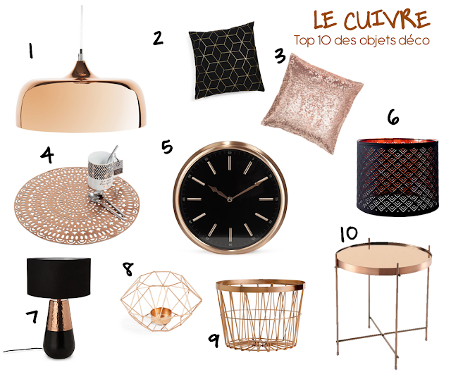 le cuivre top 10 des objets deco marionsamsam blog mode healthy et lifestyle. Black Bedroom Furniture Sets. Home Design Ideas