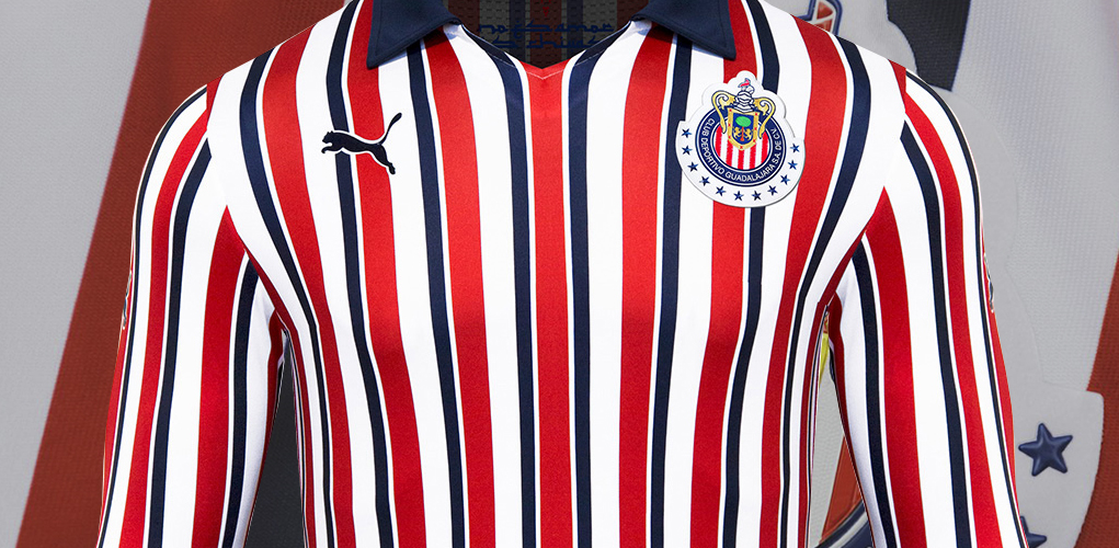 033b29adf The Chivas 2018 Club World Cup kit has no front sponsor as clubs can only  wear the logo of their main sponsor