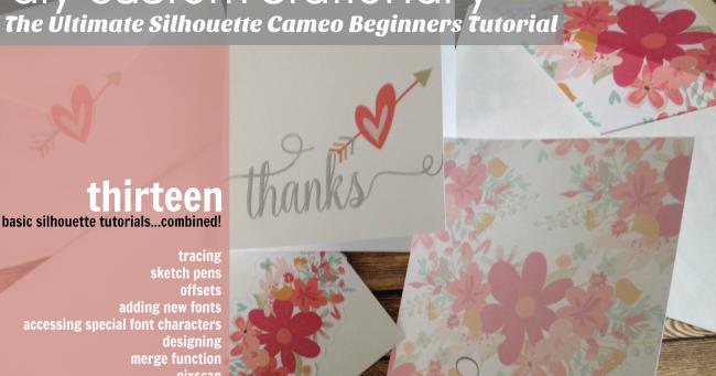Silhouette Cameo Occasion : 13 silhouette cameo tutorials for beginners rolled into one ultimate newbie project ~ Voncanada.com Idées de Décoration