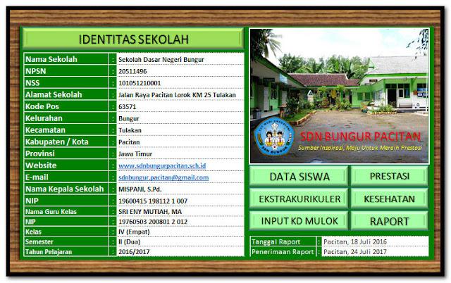 Aplikasi Cetak Raport Kurikulum 2013 Format Excel.Xlsx