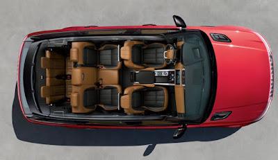 Land Rover Range Rover Sport les 7 places d'une vue verticale